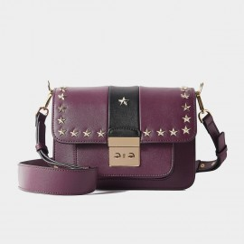 Cilela Star Rivet Purple Shoulder Bag (CR1088)