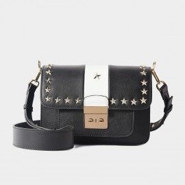 Cilela Star Rivet White Shoulder Bag (CR1088)