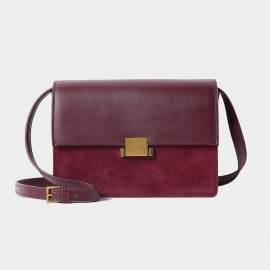 Cilela Double Hue Wine Shoulder Bag (CR1101)