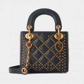 Cilela Diamond Rivet Black Top Handle (CR1201L)