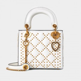 Cilela Diamond Rivet White Top Handle (CR1201L)