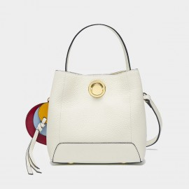 Cilela Bucket Tassel White Tote (CR1523)