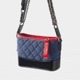 Cilela Diamond Tufted Tassel Blue Shoulder Bag (CR2523S)