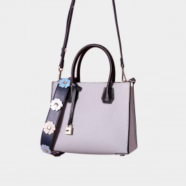 Cilela Floral Leather Belt Ash Tote (CR26186S)