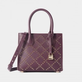 Cilela Diamond Studded Purple Tote (CR3618L)