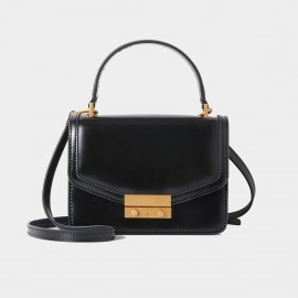 Cilela Messenger Black Satchel (TB-1202S)