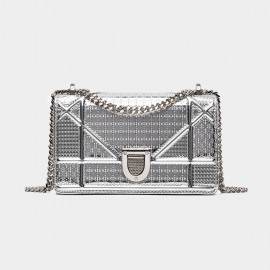 Cilela Boxy Small Silver Shoulder Bag (CR0410)