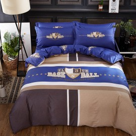 AIX Baseball Love Blue Bed Linen (YGM17004)