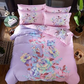 AIX Pastel Flower Pink Bed Linen (YGM17005)