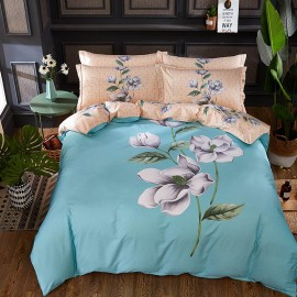 AIX Multitone Blossom Painting Blue Bed Linen (YGM17018)