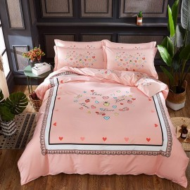AIX Crazy In Love Pink Bed Linen (YGM17025)