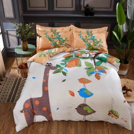 AIX Nature & Friends Beige Bed Linen (YGM17029)