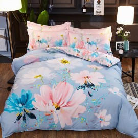 AIX Daisy Painting Blue Bed Linen (YGM17035)