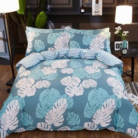 AIX Tropical Leaf Print Blue Bed Linen (YGM17057)