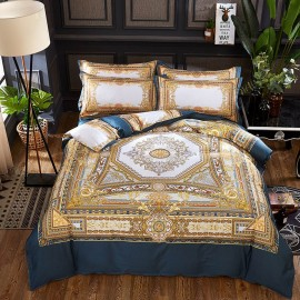 AIX Luxurious Vintage Pattern Gold Bed Linen (YGM17066)