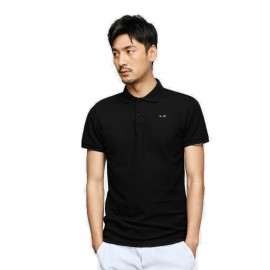 Basique Pinned Minimalist Black Polo (02.0025)