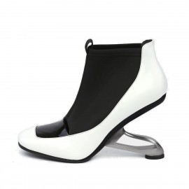 Jady Rose Edgy White Boots (18DR10568)