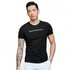 Basique Stylish Line Black Tee (01.0077)
