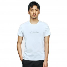 Basique Silence In Print White Tee (01.0082)
