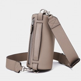 Cilela Cylinder Grey Shoulder Bag (CK00111)