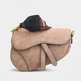 Cilela Oblique Khaki Shoulder Bag (CK-001202)