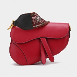 Cilela Oblique Red Shoulder Bag (CK-001202)