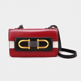 Cilela Symmetric Ring Red Shoulder Bag (CK-001205)