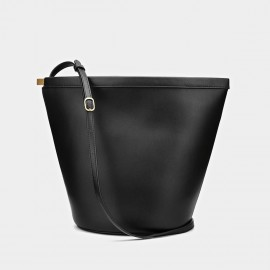 Cilela Simple Trapezium Black Tote (CK-001207)