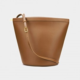 Cilela Simple Trapezium Brown Tote (CK-001207)