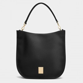 Cilela Metallic Hardware Black Tote (CK-001208)
