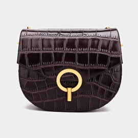 Cilela Bold Ring Reptile Brown Satchel (CK-001209)
