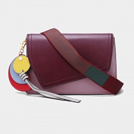 Cilela Irregular Foldover Purple Shoulder Bag (CK-001213)