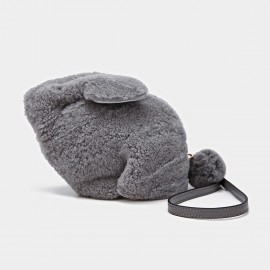 Cilela Fluffy Rabbit Grey Shoulder Bag (CK-01023)