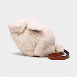 Cilela Fluffy Rabbit White Shoulder Bag (CK-01023)