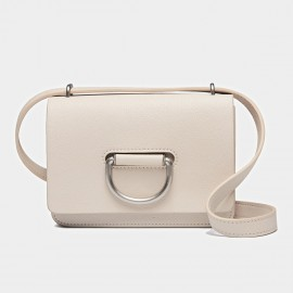 Cilela Silver Ring White Satchel (CK-0730)