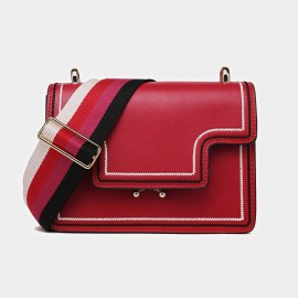 Cilela Colourful Wide-Strap Red Shoulder Bag (CK-0807)