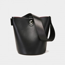 Cilela Bucket Leather Black Tote (CK-0816)
