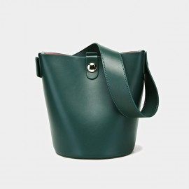 Cilela Bucket Leather Green Tote (CK-0816)