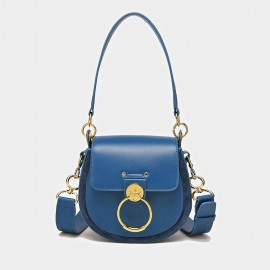 Cilela Saddle Ring Blue Shoulder Bag (CK-0828)
