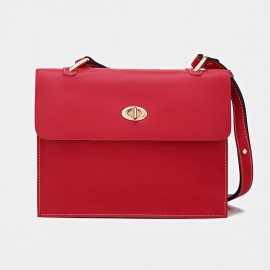 Cilela Classic Twist-Lock Red Satchel (CK-1015)