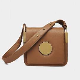 Cilela Square Brown Shoulder Bag (CK-9905)