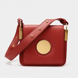 Cilela Square Red Shoulder Bag (CK-9905)