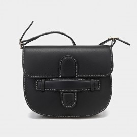 Cilela Cross Saddle Black Satchel (CR-00925)