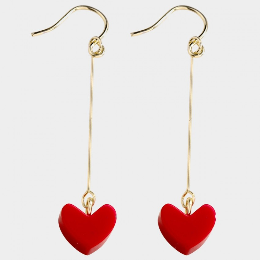 Caromay Hot Heart Red Earrings (E4379-2)
