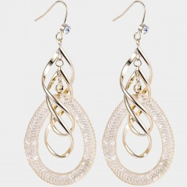 Caromay Tempete Champagne-Gold Earrings (E4476)