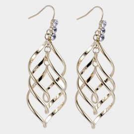 Caromay Trippin Champagne-Gold Earrings (E4477)