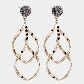 Caromay Hold Up Gold Earrings (E4575)