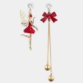 Caromay Winged Elf Red Earrings (E4842)