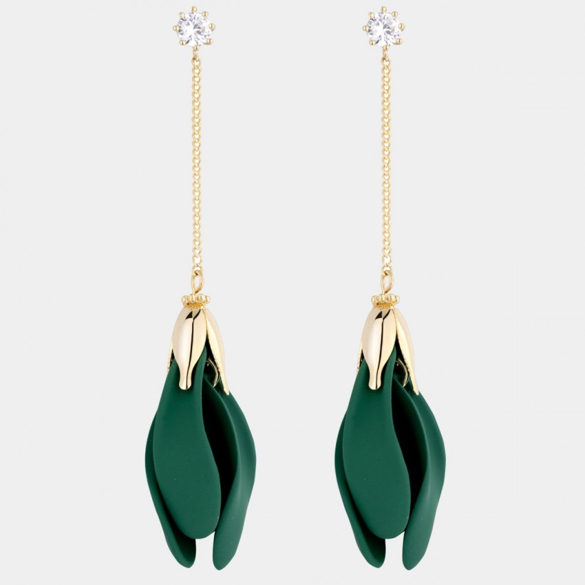Caromay Forget-Me-Not Green Earrings (E4914)