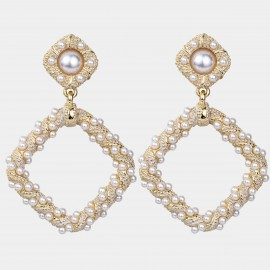 Caromay Full Glow Champagne-Gold Earrings (E4956)